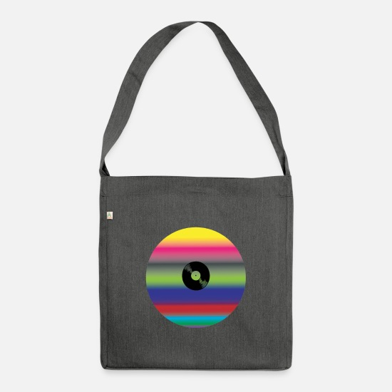 Bass Bags & Backpacks - Music Disk CD Colors - Shoulder Bag recycled dark grey heather