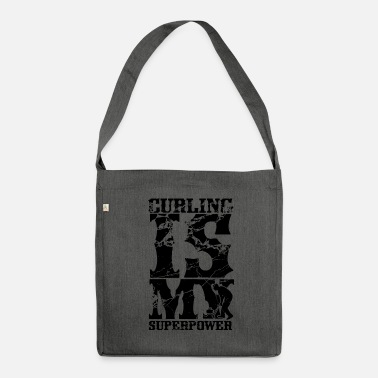 Curling Curling Curling Curling Curling - Shoulder Bag recycled