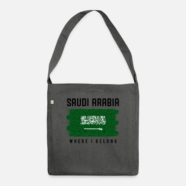 Saudi-arabische Nationalflagge Saudi-Arabien Where I Belong Statement Geschenk - Umhängetasche aus Recyclingmaterial