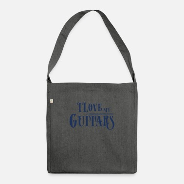 Guitars Guitar Guitar Guitar Guitar - Shoulder Bag recycled