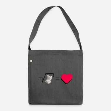 Pull The Root Biscuits Cats Mathematical Hearts Love Love - Shoulder Bag recycled