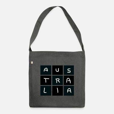 Australien-Muster bzw. Text für Work and Travel - Umhängetasche aus Recyclingmaterial