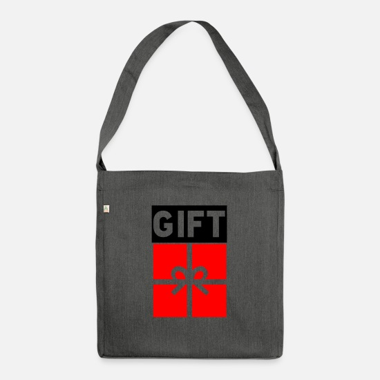 Red Bags & Backpacks - Gift poison - Shoulder Bag recycled dark grey heather