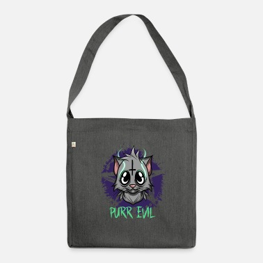 Evil Purr Evil - Satanic Cat Pentagram - Shoulder Bag recycled