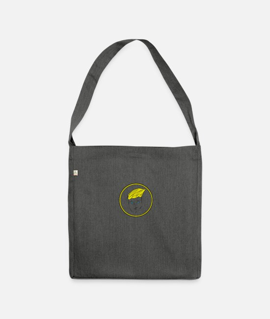 Party Bags & Backpacks - face - Shoulder Bag recycled dark grey heather