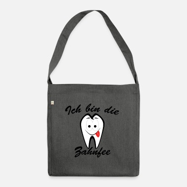 Tooth The funny tooth fairy - Shoulder Bag recycled