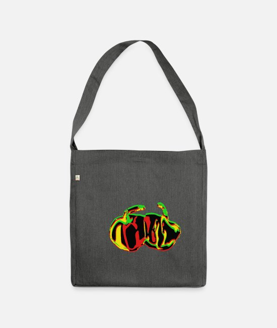 Rasta Bags & Backpacks - Scotch Bonnet - Shoulder Bag recycled dark grey heather