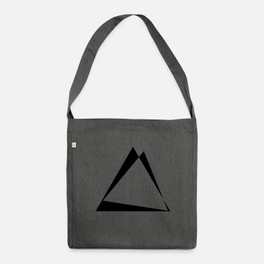 Triangle Triangles torsadés - conception de triangle - Sac bandoulière recyclé