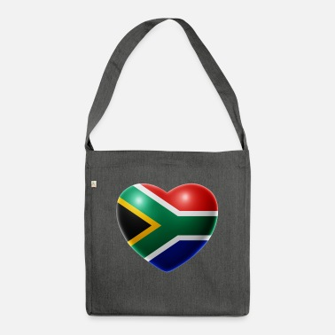 South Africa Heart (South Africa / South Africa) - Shoulder Bag recycled