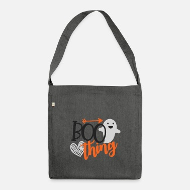 Children Boo thing gift Halloween monster witch ghosts - Shoulder Bag recycled
