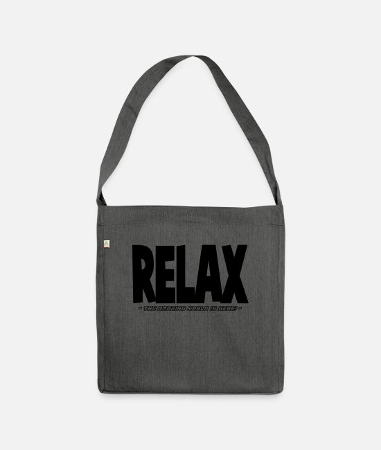 Relax Bags & Backpacks - relax the amazing karla is here - Shoulder Bag recycled dark grey heather