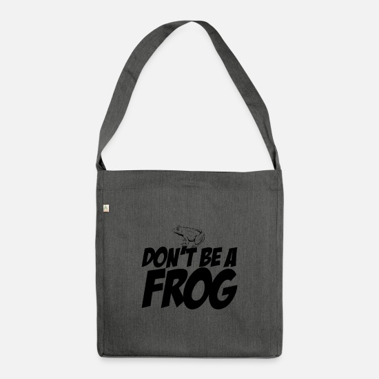 Frog Bags & Backpacks - Don't be a frog - Shoulder Bag recycled dark grey heather