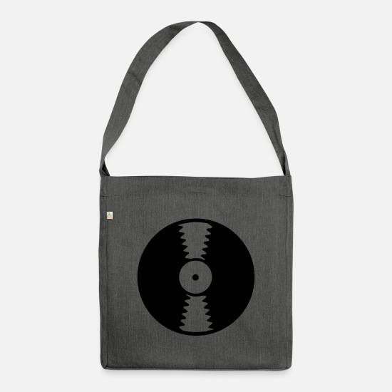 Dj Bags & Backpacks - Vinyl record - Shoulder Bag recycled dark grey heather