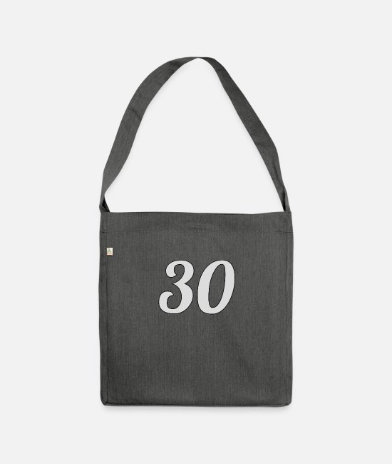 30 Plus Bags & Backpacks - 30 - Shoulder Bag recycled dark grey heather