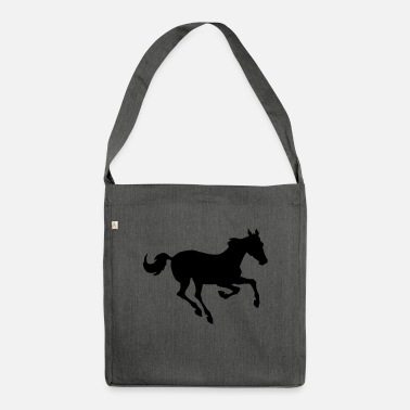 Gallop Horse galloping - Shoulder Bag recycled