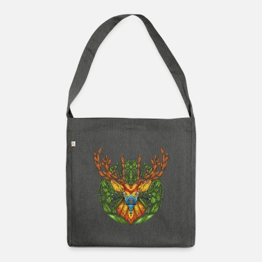 Deer deer nature deer head - Shoulder Bag recycled