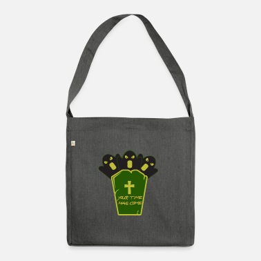 Grave Halloween on a grave - Halloween with a grave - Shoulder Bag recycled
