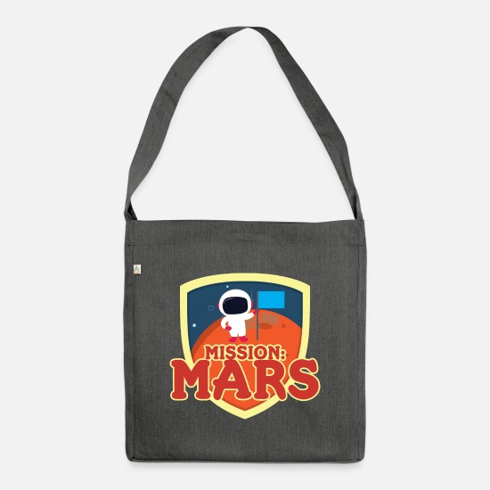 Outerspace Bags & Backpacks - Mission Mars - Shoulder Bag recycled dark grey heather