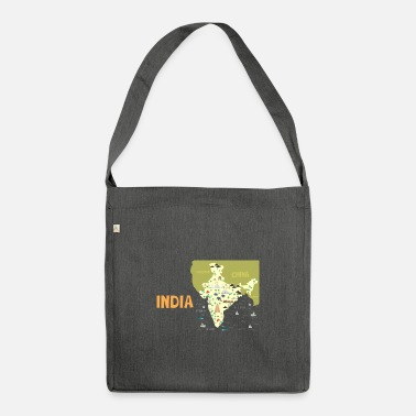 India India map, India - Shoulder Bag recycled