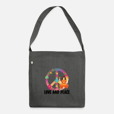 Hippie Hippie costume | Hippies outfit Peace gift ideas - Shoulder Bag recycled