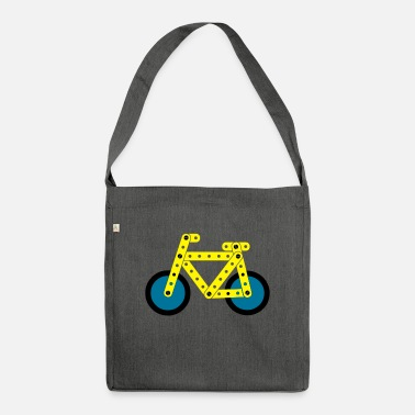 Bike bicycle model - Shoulder Bag recycled