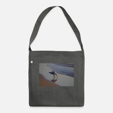 Cute Animals A Seagull Playing With A Bit Of Seaweed - Shoulder Bag recycled