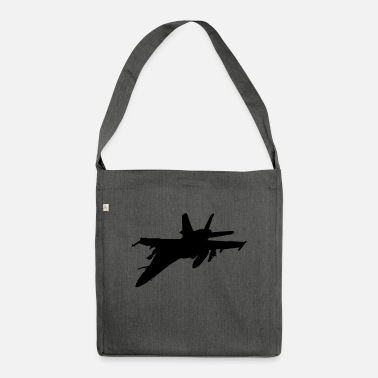 Fighter fighter aircraft fighter - Shoulder Bag recycled