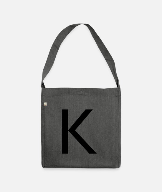 Alphabet Bags & Backpacks - Alphabet K - Shoulder Bag recycled dark grey heather