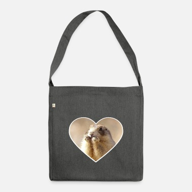 Rodent rodent rodents heart cute - Shoulder Bag recycled