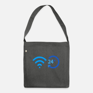 Wireless wireless 24 h 24 hours wireless wifi internet - Shoulder Bag recycled