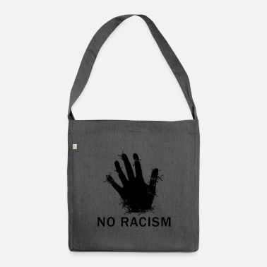 Against Against Nazis, against the right - Shoulder Bag recycled