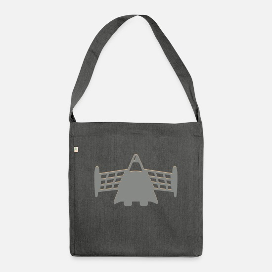 Flight Bags & Backpacks - Alien Space Shuttle - Shoulder Bag recycled dark grey heather