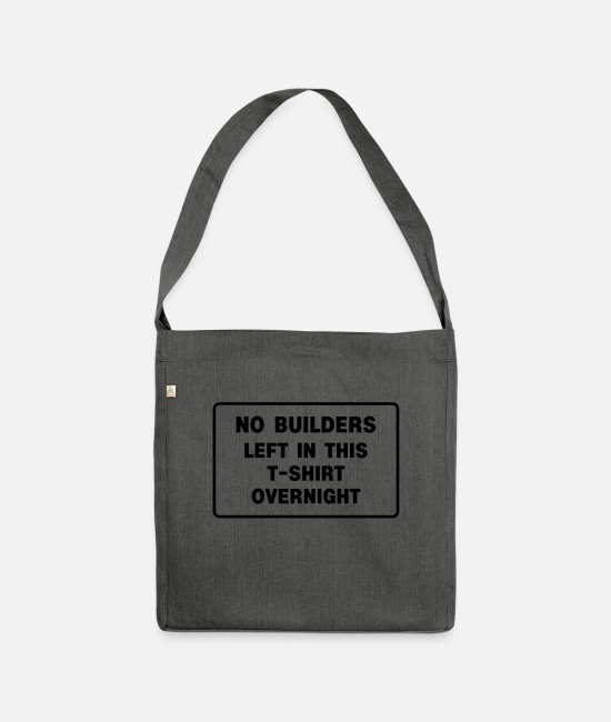 Van Bags & Backpacks - builders - Shoulder Bag recycled dark grey heather