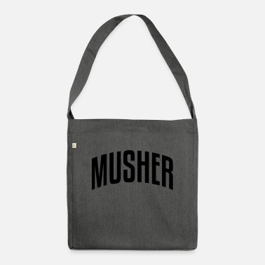 Musher musher stylish arched text logo copy - Shoulder Bag recycled
