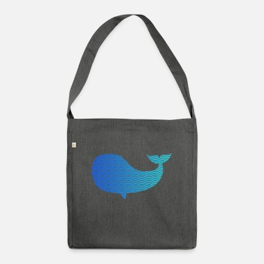 Wale wale from waves and sea - Shoulder Bag recycled