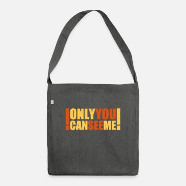 Heaven only you can see me - Shoulder Bag recycled