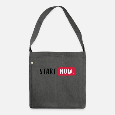 Start START NOW. - Sac bandoulière recyclé