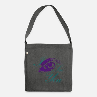 I see you, colorful eye - Shoulder Bag recycled
