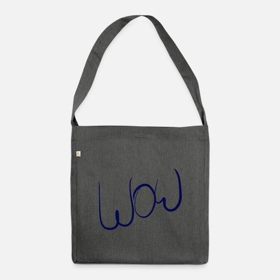 Balloon Bags & Backpacks - WOW - Shoulder Bag recycled dark grey heather