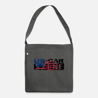 US CAR SCENE LOGO - Shoulder Bag recycled