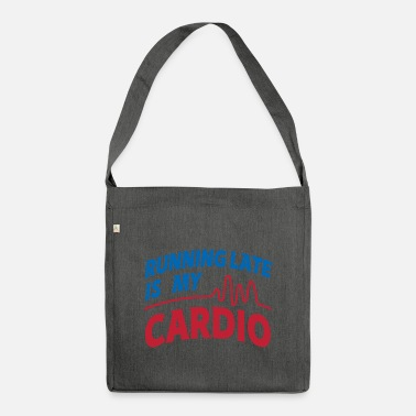 Wretch Cardio Running Late Graphic - Shoulder Bag recycled