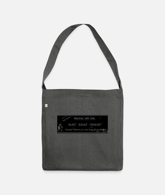 Chewbacca Bags & Backpacks - Grammar with Master Y #t - Shoulder Bag recycled dark grey heather