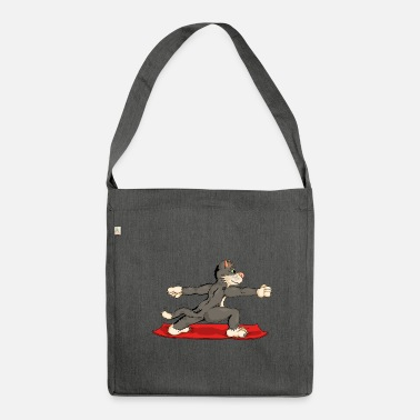 The yoga hangover is practicing the archers Virabhadrasan - Shoulder Bag recycled