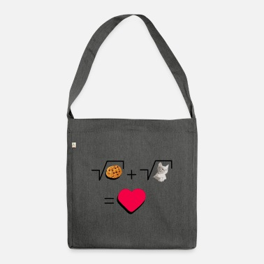 Pull The Root Cookies and cat Cat and biscuits alike love - Shoulder Bag recycled