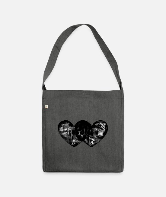 Heart Bags & Backpacks - Heart by heart - Shoulder Bag recycled dark grey heather