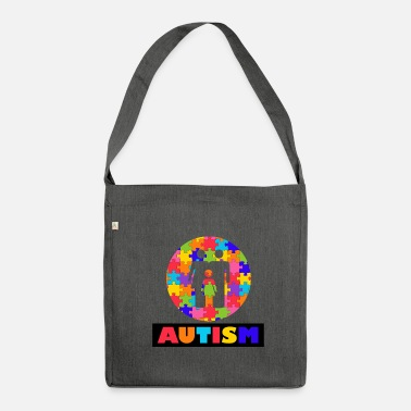 Autism Month Vintage Autism Autism Awareness Month - Shoulder Bag recycled
