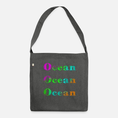 Tree Ocean Ocean Ocean / Summer / Trend / cool - Shoulder Bag recycled
