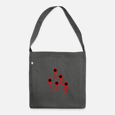 Blood Drop Gunshots and blood blood stain symbol gunshot wound - Shoulder Bag recycled