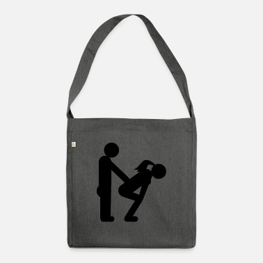Fun straight couple - Shoulder Bag recycled