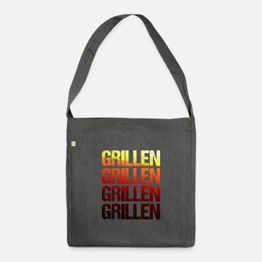 Grillmaster Barbecue TShirt Grillmeister barbecue season gift - Shoulder Bag recycled